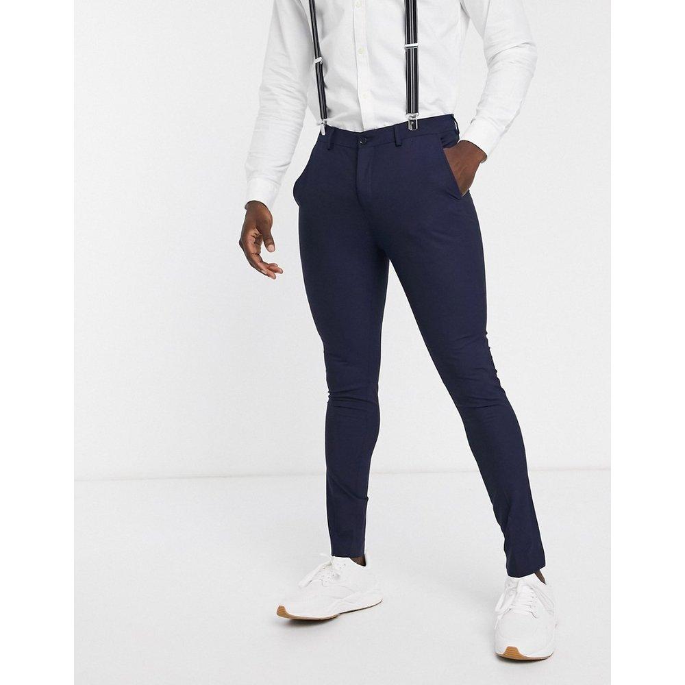 Pantalon de costume slim - Bleu marine - Selected Homme - Modalova