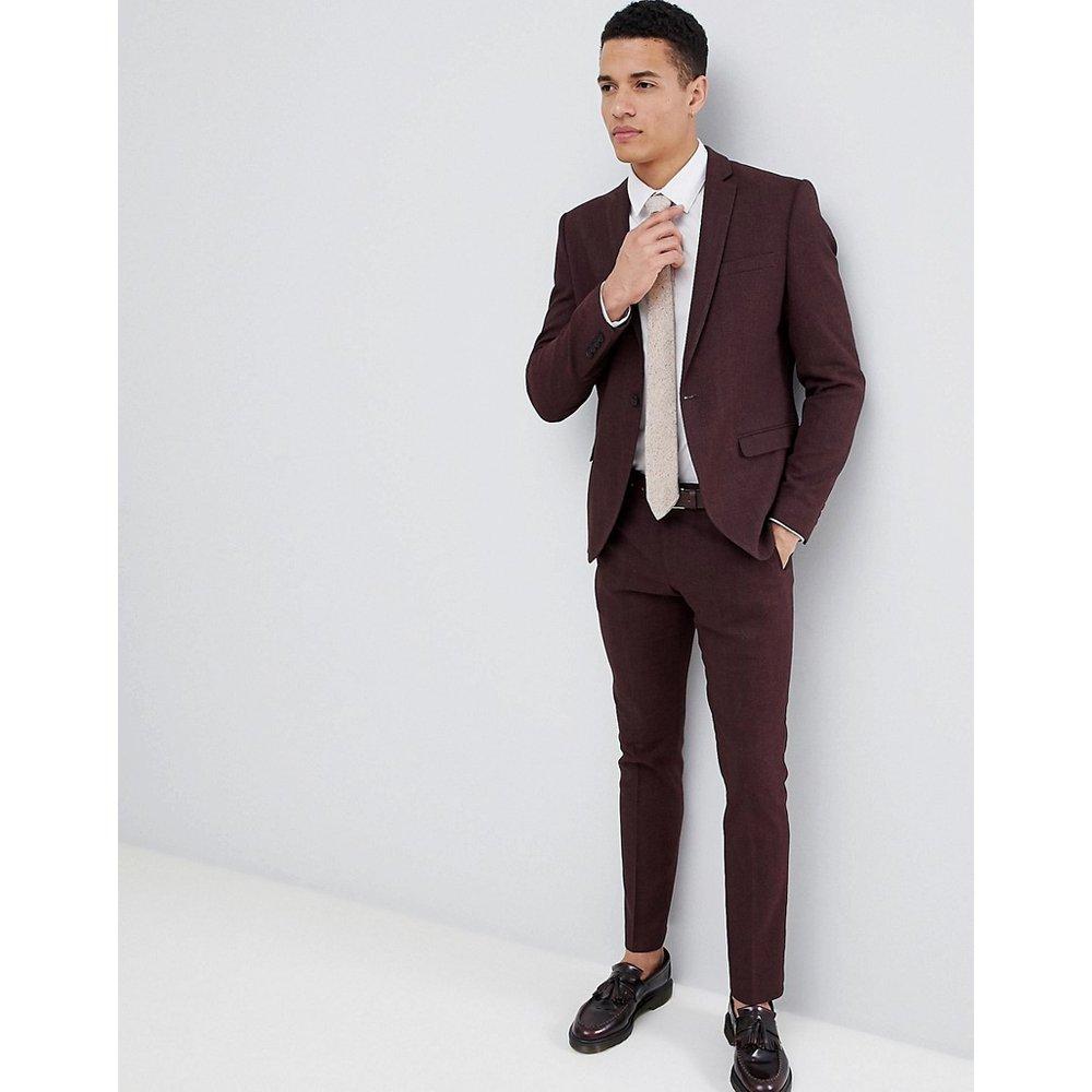 Pantalon de costume slim en fils torsadés - Selected Homme - Modalova
