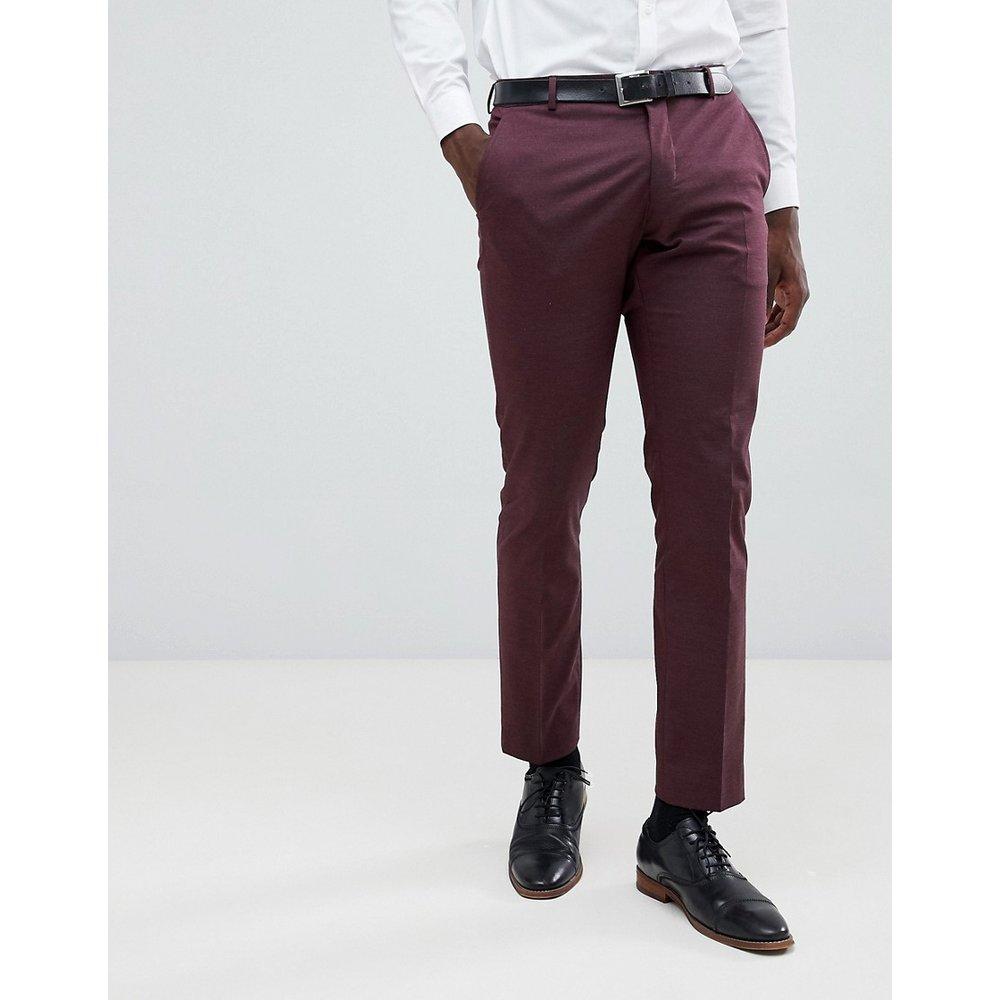 Pantalon de costume slim - Prune de Damas - Selected Homme - Modalova