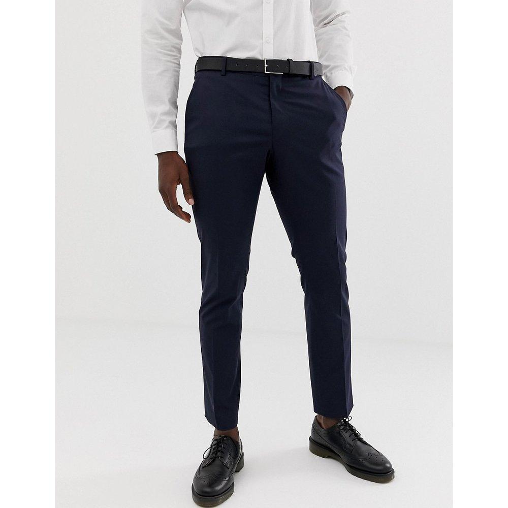 Pantalon de costume slim stretch - Bleu marine - Selected Homme - Modalova