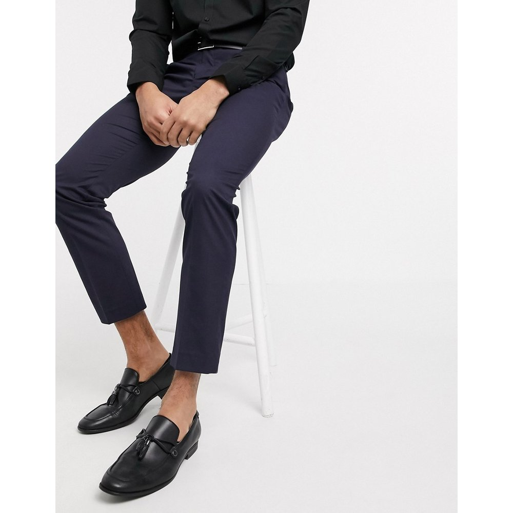 Pantalon de costume stretch coupe slim - Bleu marine - Selected Homme - Modalova