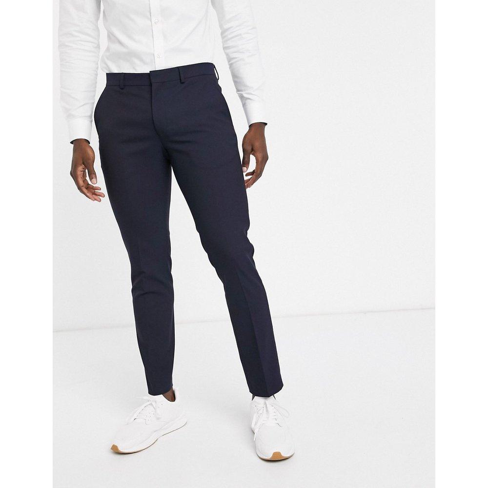 Pantalon de smoking coupe slim - Bleu marine - Selected Homme - Modalova