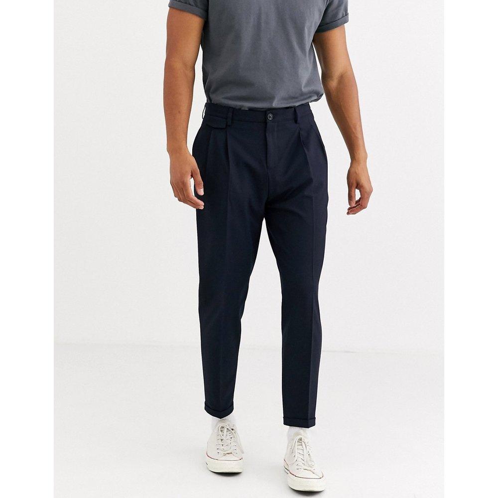 Pantalon habillé coupe slim fuselée - Bleu marine - Selected Homme - Modalova