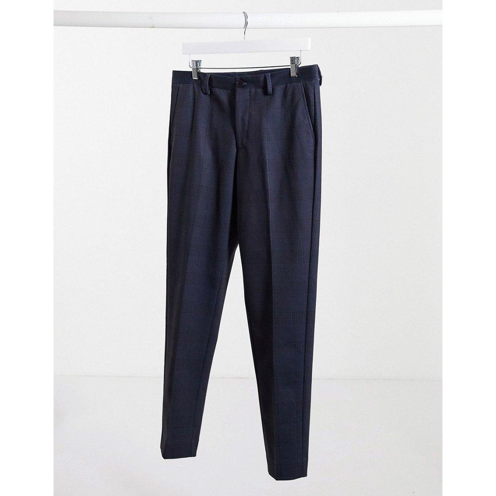 Pantalon slim à carreaux - Bleu marine - Selected Homme - Modalova