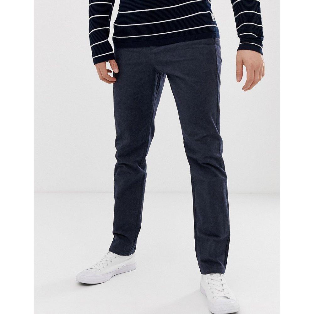 Pantalon slim texturé - Bleu marine - Selected Homme - Modalova