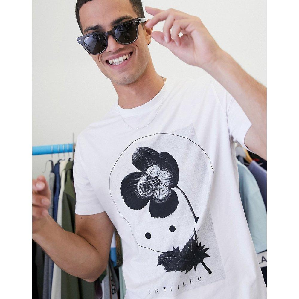 T-shirt à imprimé graphique abstrait - Selected Homme - Modalova