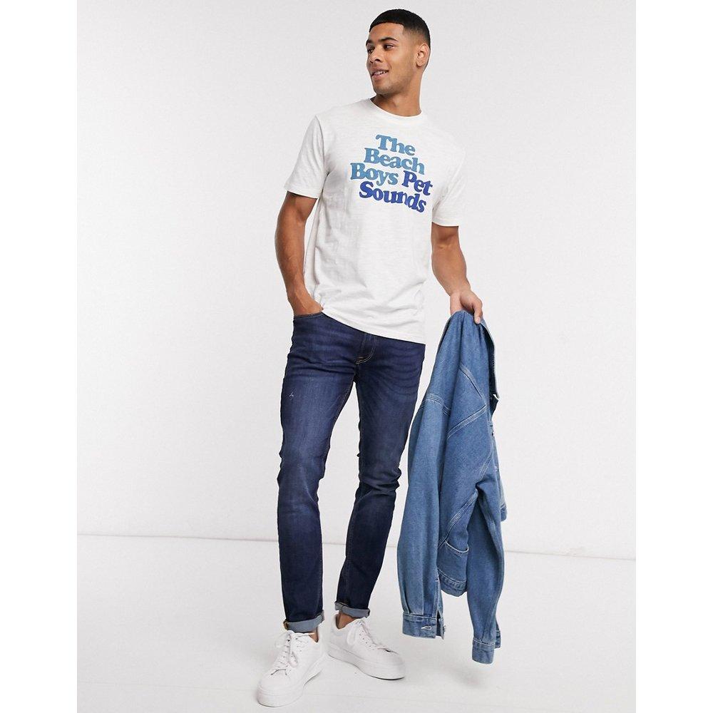 T-shirt à imprimé plage et col rond - Selected Homme - Modalova