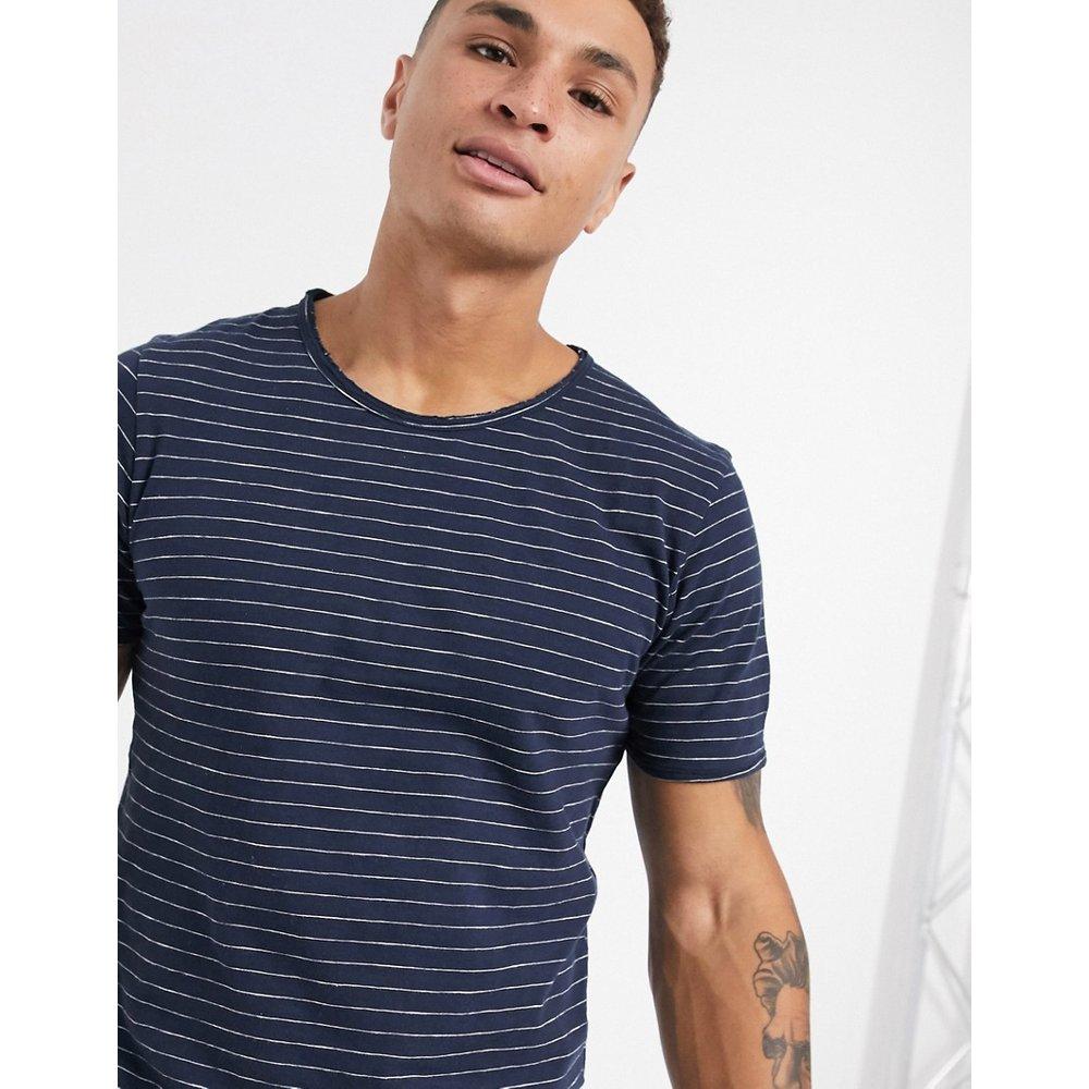 T-shirt à rayures - Bleu marine - Selected Homme - Modalova