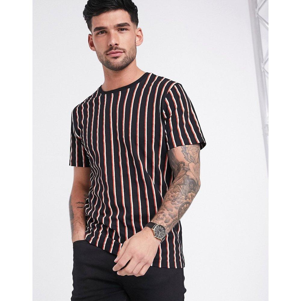 T-shirt à rayures verticales en coton biologique - Selected Homme - Modalova