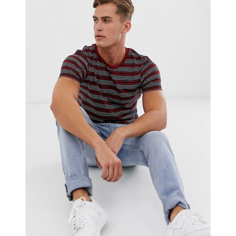 T-shirt rayé - Bleu marine - Selected Homme - Modalova