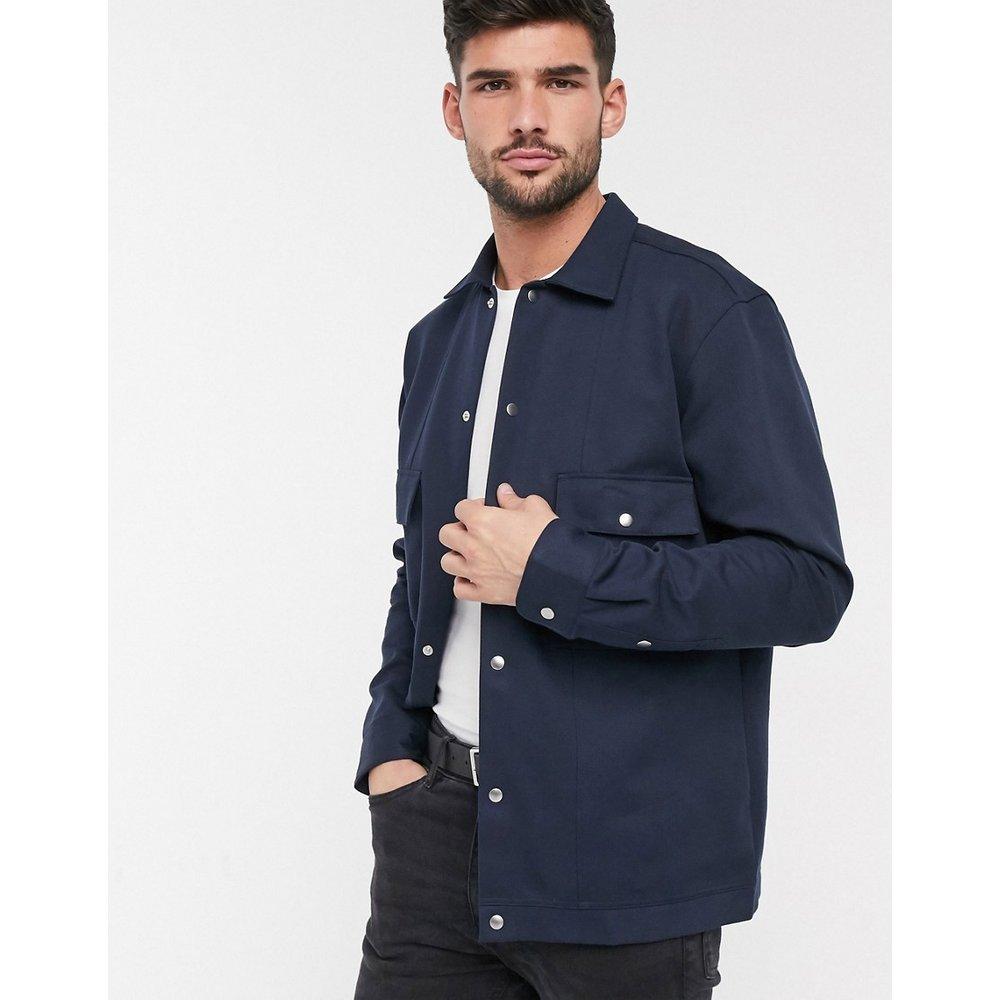Veste chemise habillée en sergé - Bleu marine - Selected Homme - Modalova