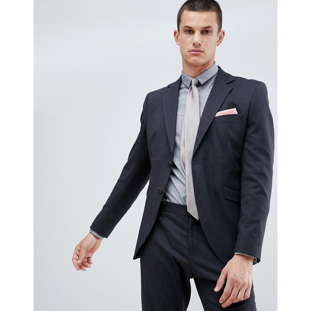 Veste de costume ajustée effet micro grille - Selected Homme - Modalova