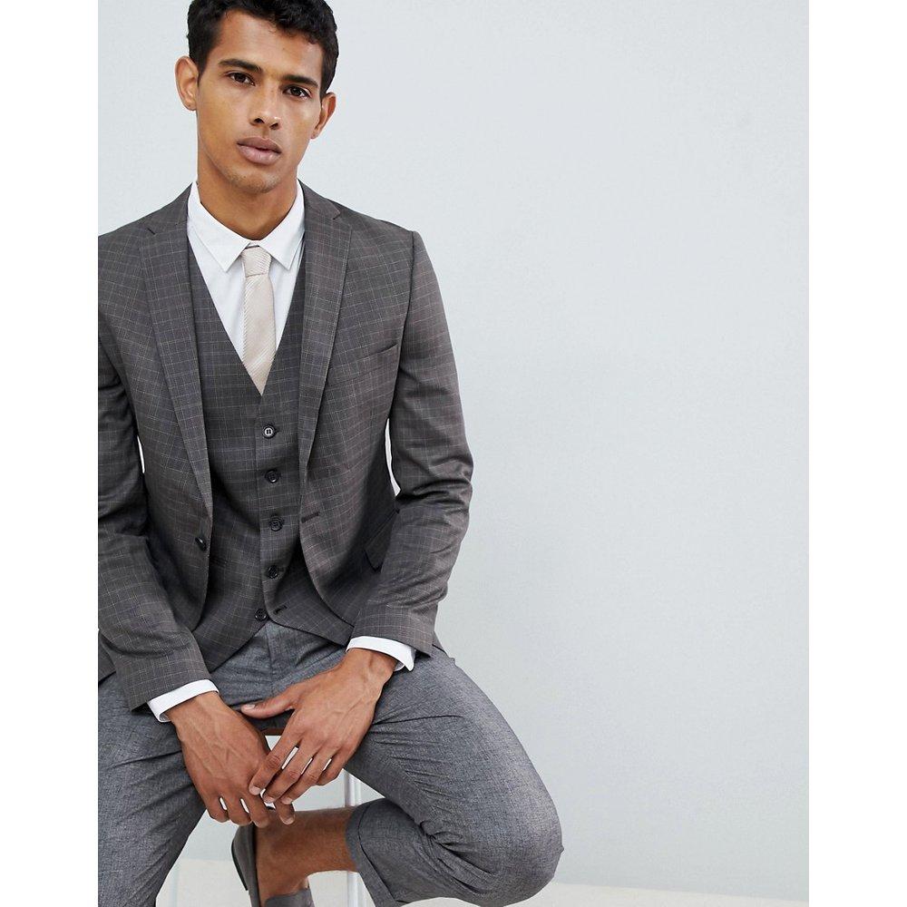Veste de costume slim à carreaux - Selected Homme - Modalova