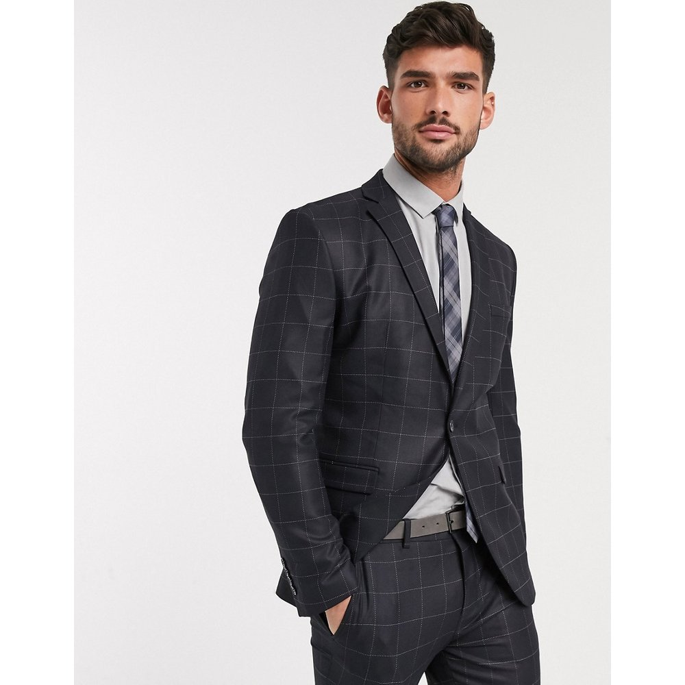 Veste de costume slim stretch - Carreaux - Selected Homme - Modalova