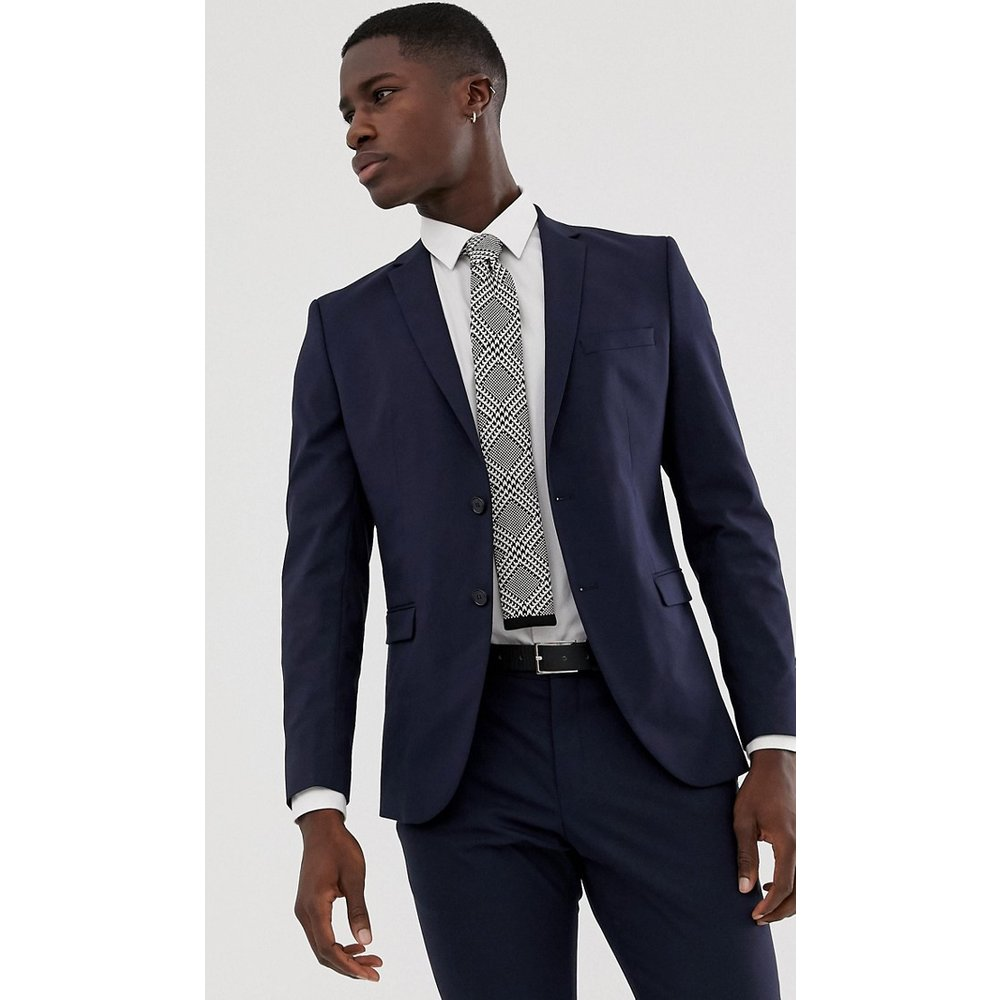 Veste de costume stretch ajustée - Bleu marine - Selected Homme - Modalova