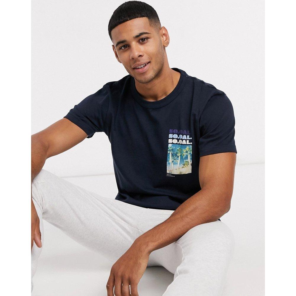 Yucca - T-shirt col rond à imprimé - Selected Homme - Modalova