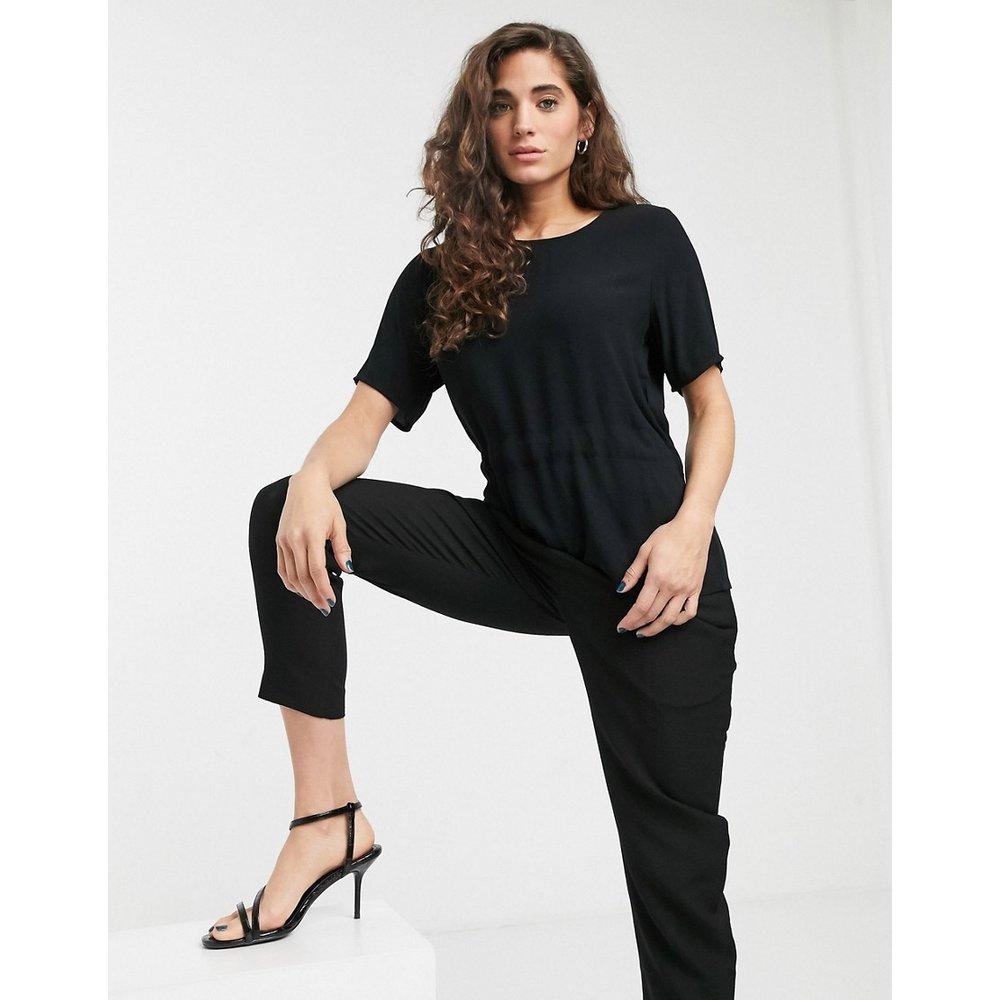 Tannia - T-shirt à taille froncée - Selected - Modalova