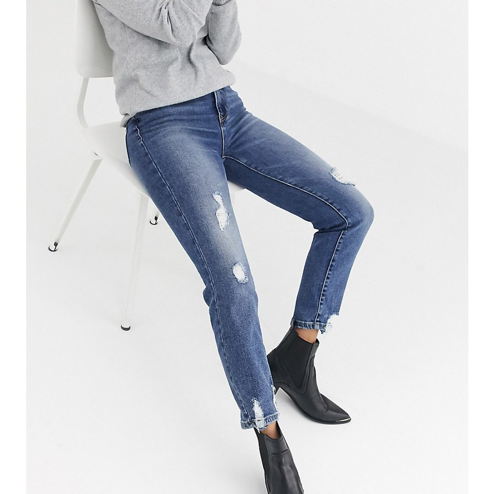 Jean mom stretch déchiré - Stradivarius - Modalova