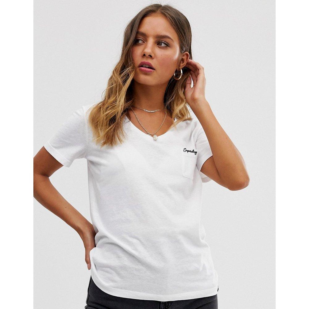 Superdry - T-shirt col V-Blanc - Superdry - Modalova