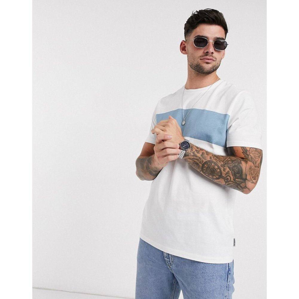 T-shirt color block - Blanc - Ted Baker - Modalova