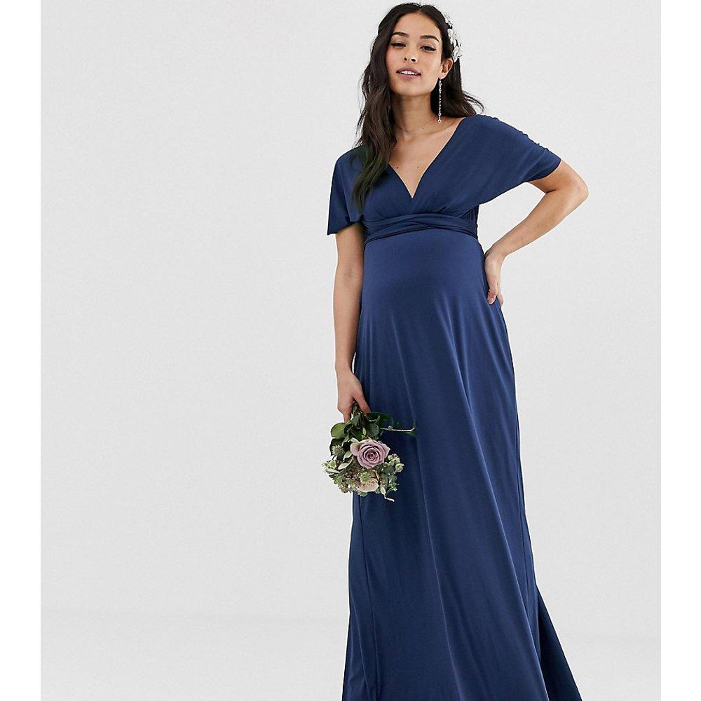 Exclusivité - Robe longue de demoiselle d'honneur multiposition - Bleu marine - TFNC Maternity - Modalova