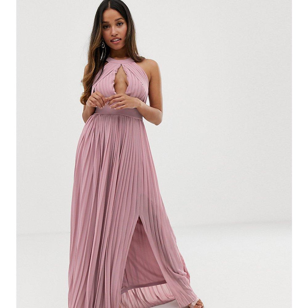 Exclusivité - Robe longue plissée pour demoiselle d'honneur - TFNC Petite - Modalova
