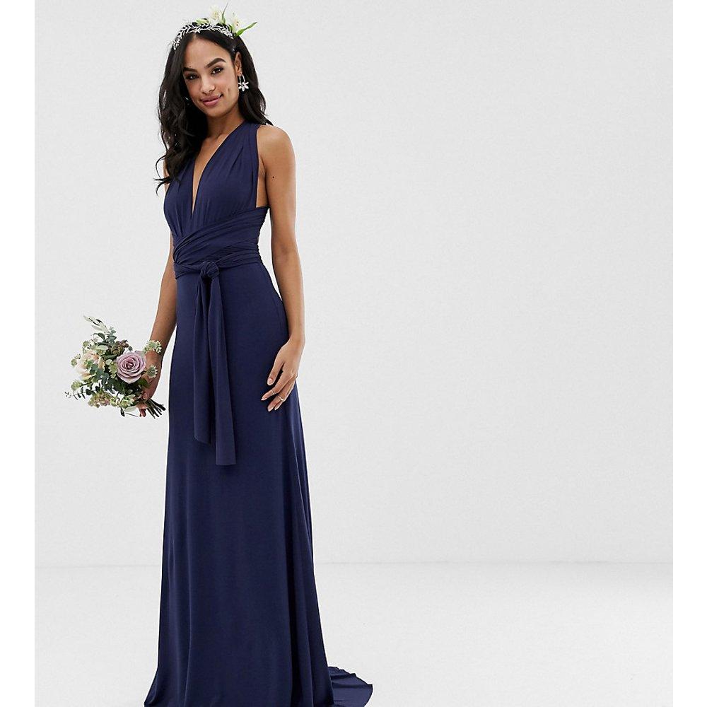 Robe longue de demoiselle d'honneur multiposition en exclusivité - Bleu marine - TFNC - Modalova