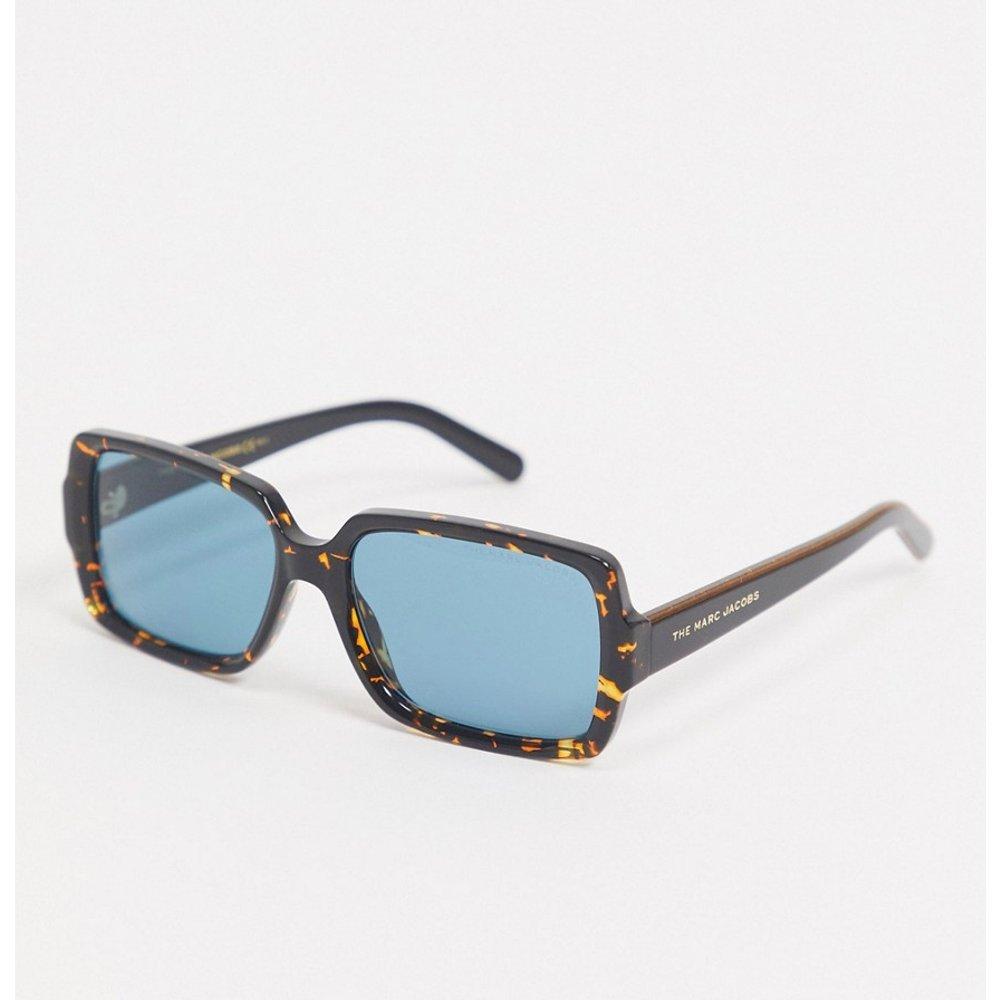 The - Lunettes de soleil carrées avec verres bleu sarcelle - Écaille - Marc Jacobs - Modalova