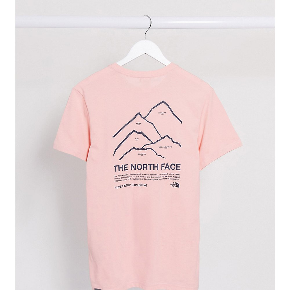 Peaks t-shirt in pink Exclusive at ASOS - The North Face - Modalova