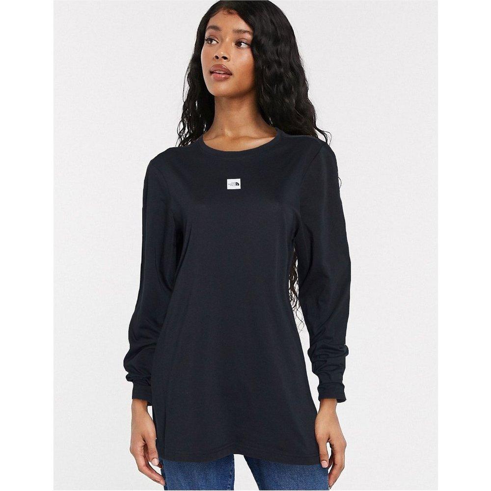 T-shirt oversize coupe boyfriend à manches longues avec logo au centre - The North Face - Modalova