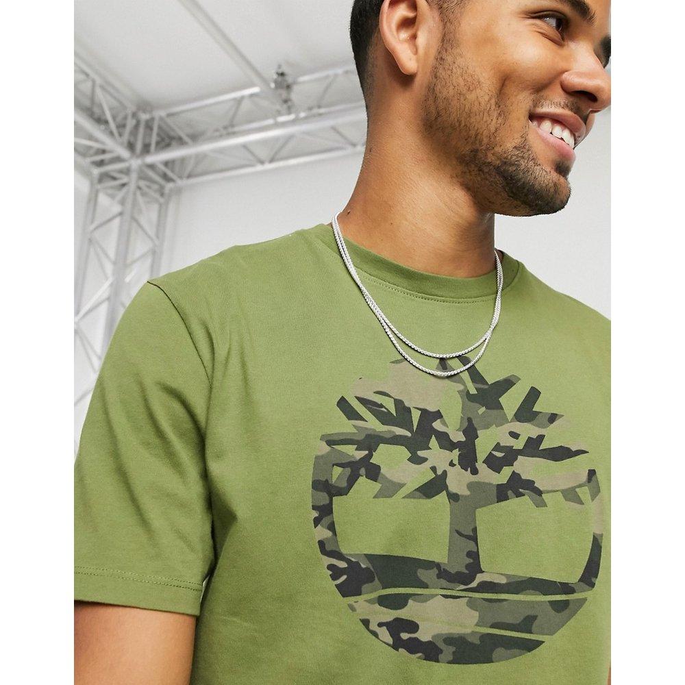 T-shirt à imprimé arbre motif camoufflage - foncé - Timberland - Modalova
