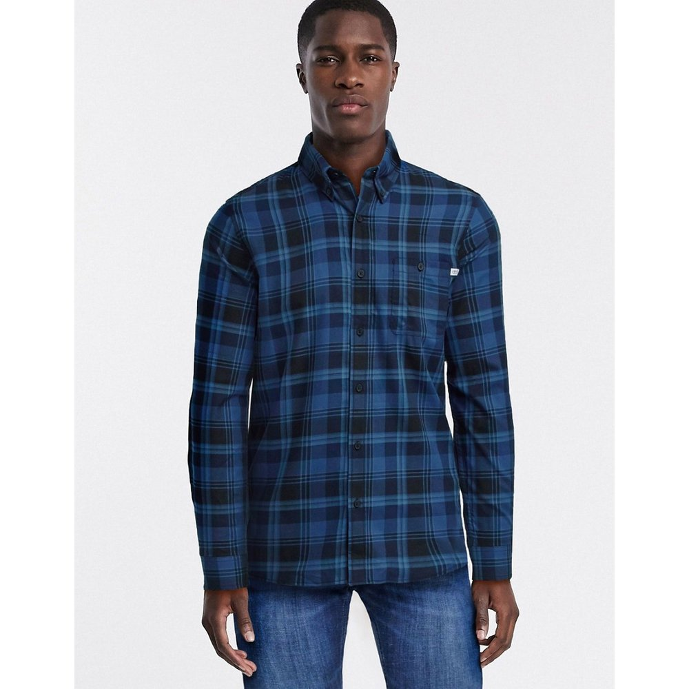 T-shirt manches longues en coton brossé - Timberland - Modalova