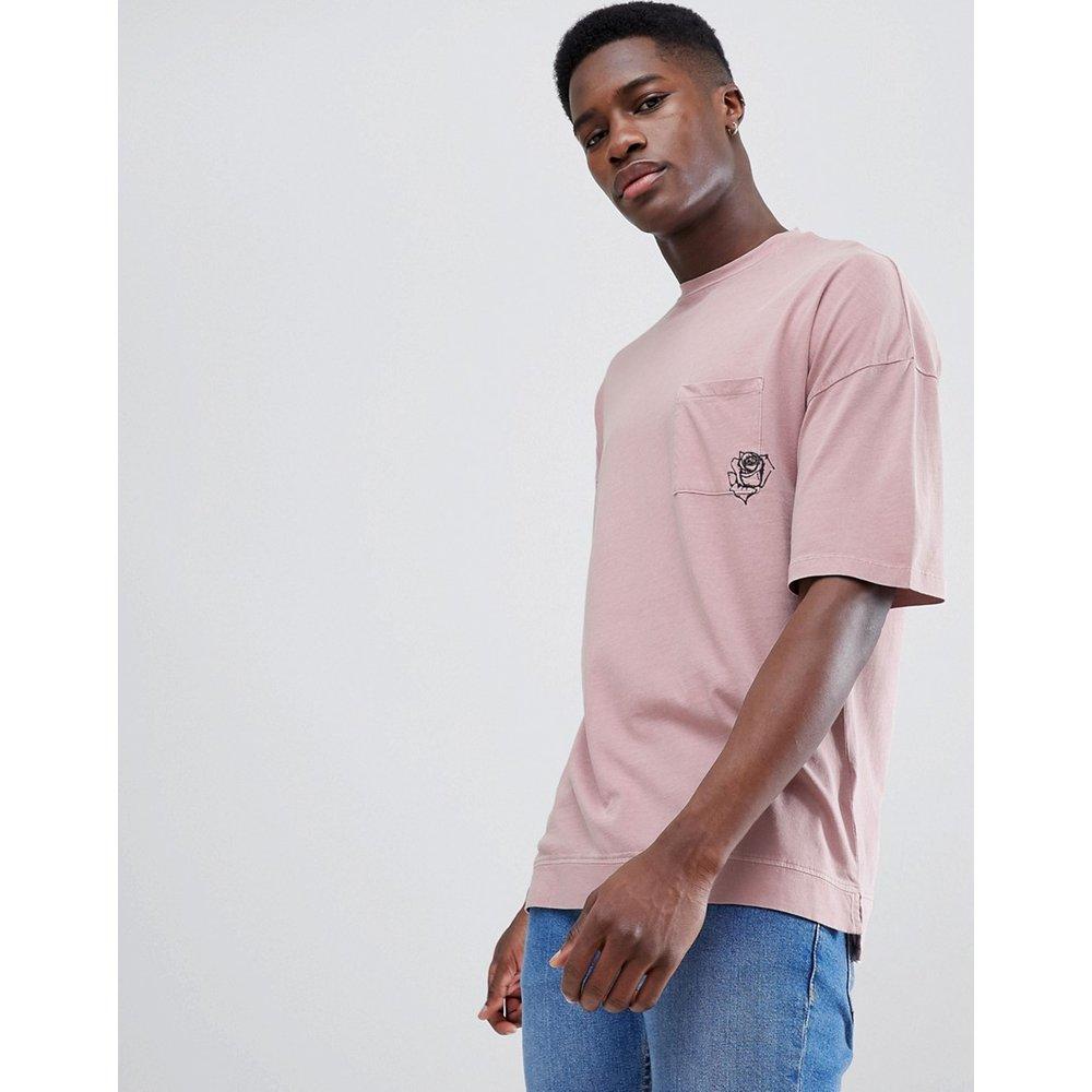 T-shirt à épaules tombantes et poche motif - Tom Tailor - Modalova