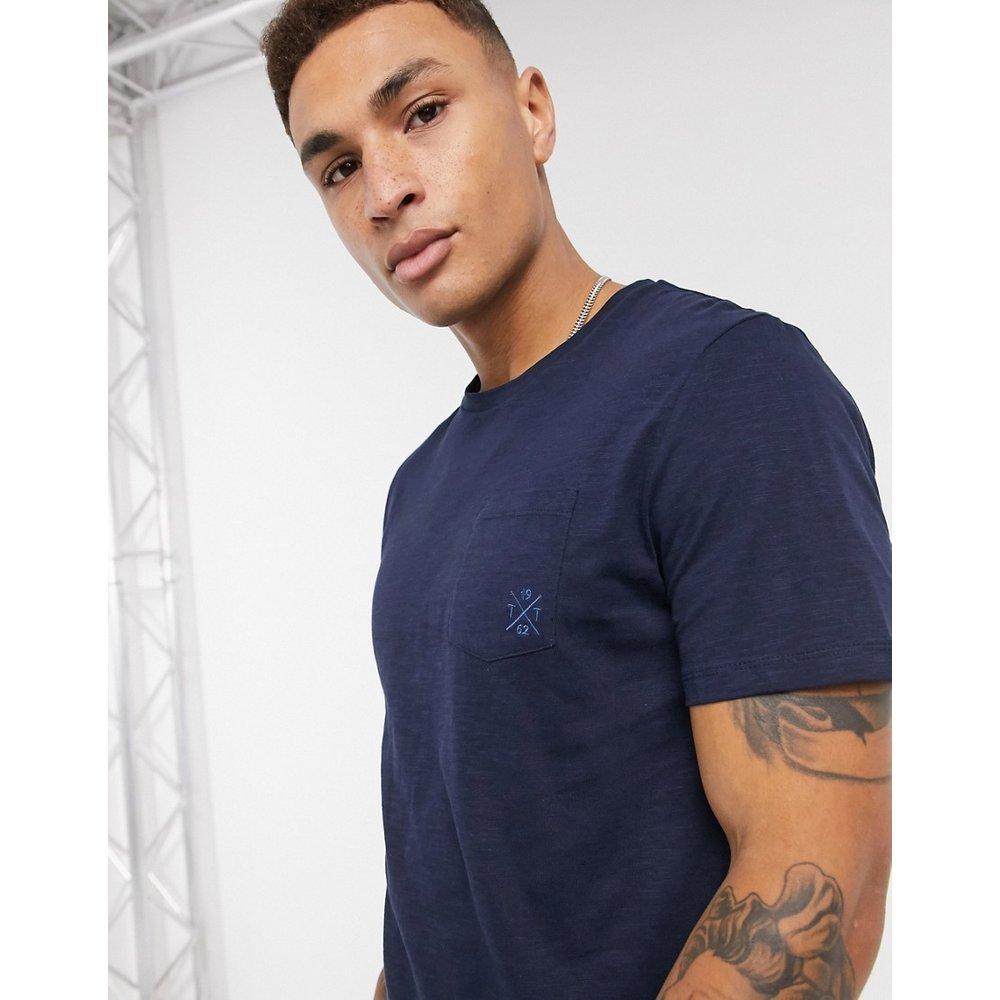 T-shirtà poche - Bleu marine - Tom Tailor - Modalova