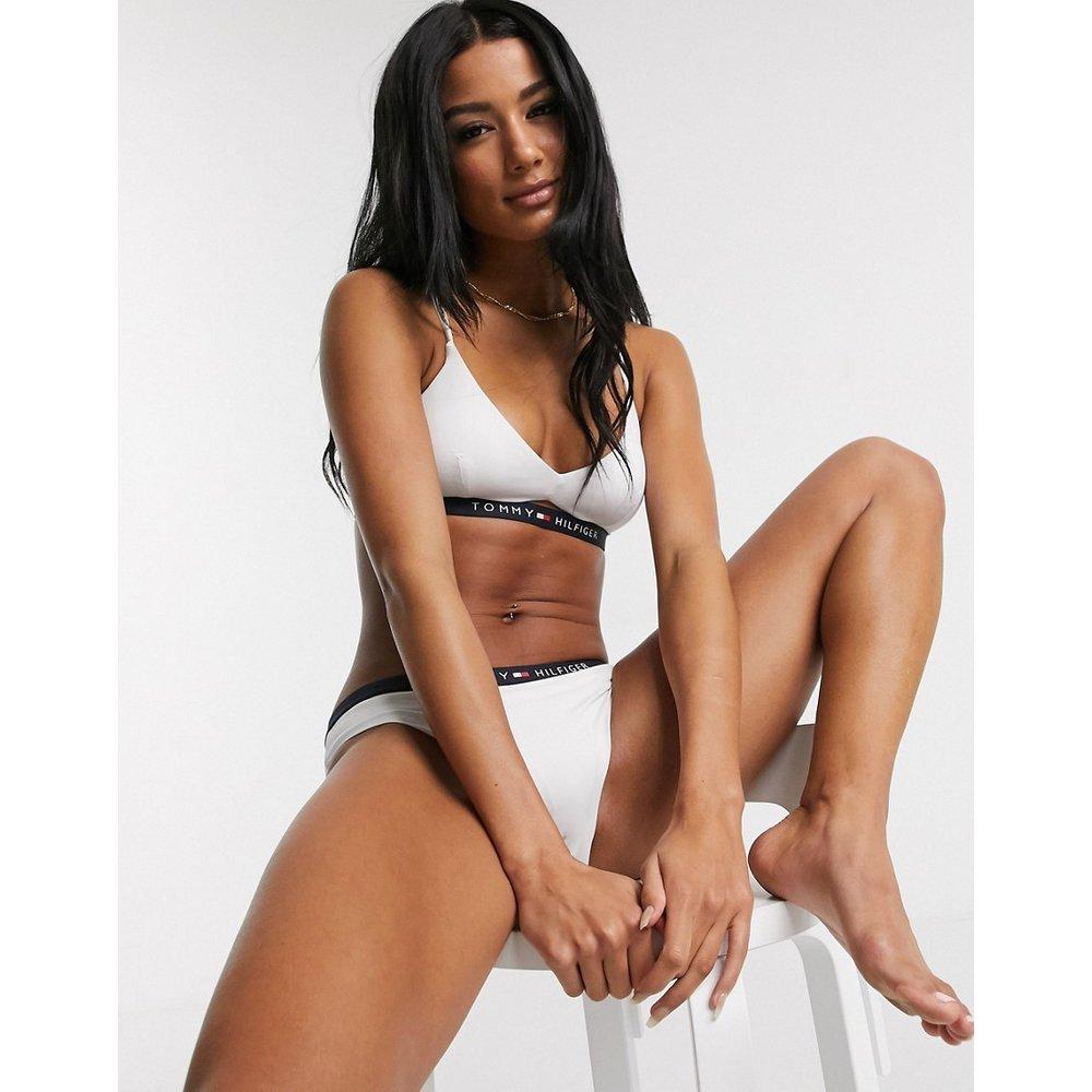 Bas de bikini échancré à logo - Tommy Hilfiger - Modalova