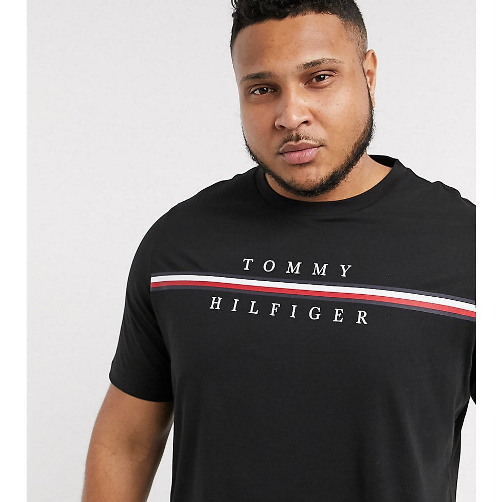Big & Tall - T-shirt à rayures emblématiques - Tommy Hilfiger - Modalova