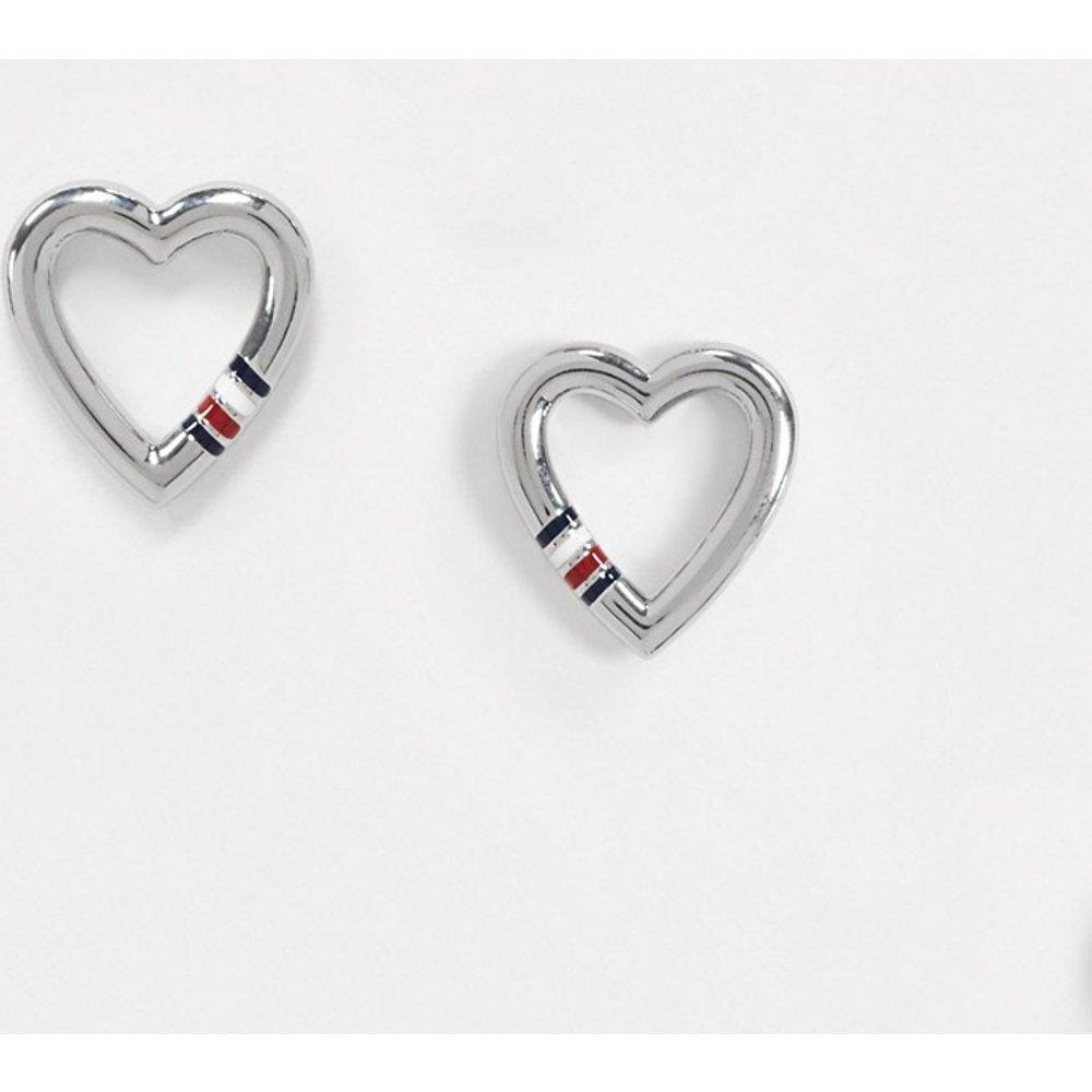 Boucles d'oreilles motif coeur - Tommy Hilfiger - Modalova