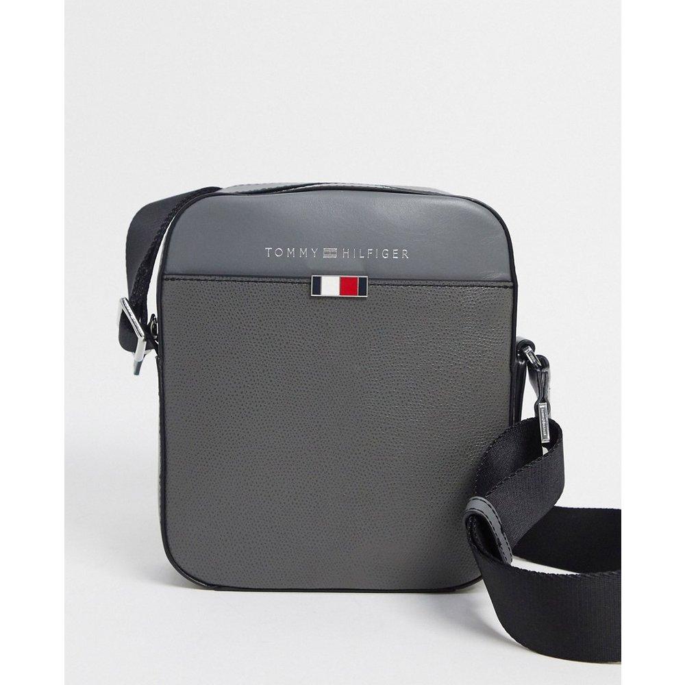 Business - Mini sacoche de reporter en cuir - Tommy Hilfiger - Modalova