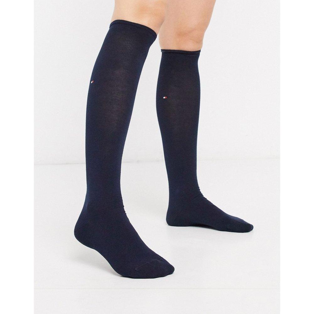 Chaussettes hauteur genou à logo - Bleu marine - Tommy Hilfiger - Modalova