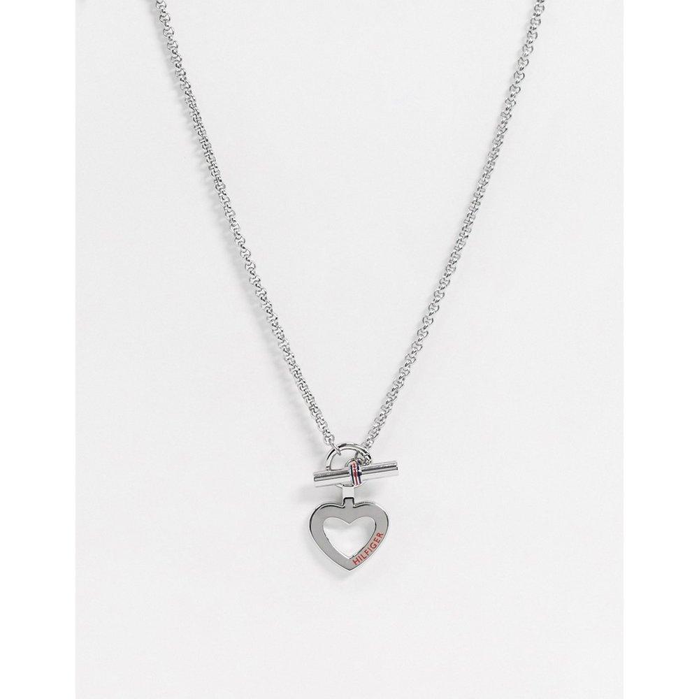 Collier à pendentif cœur et barre en T - Tommy Hilfiger - Modalova