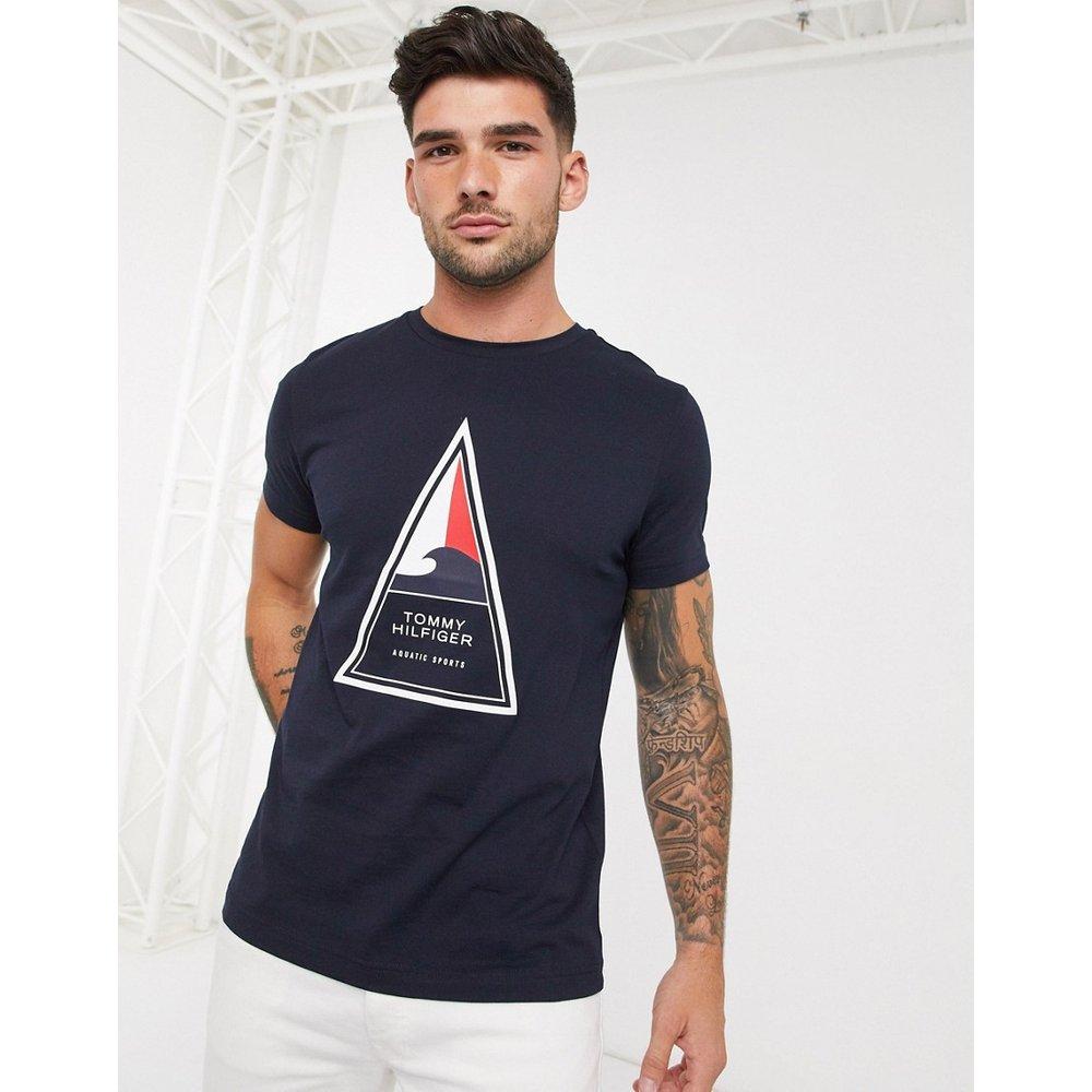 Cool - T-shirt à imprimé triangle - Tommy Hilfiger - Modalova