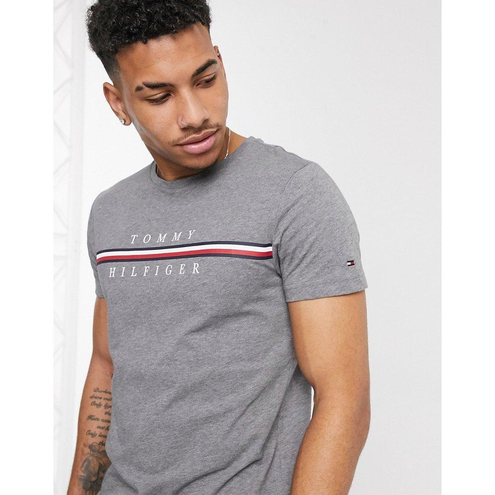 Corp - T-shirt à rayures avec logo emblématique - foncé - Tommy Hilfiger - Modalova