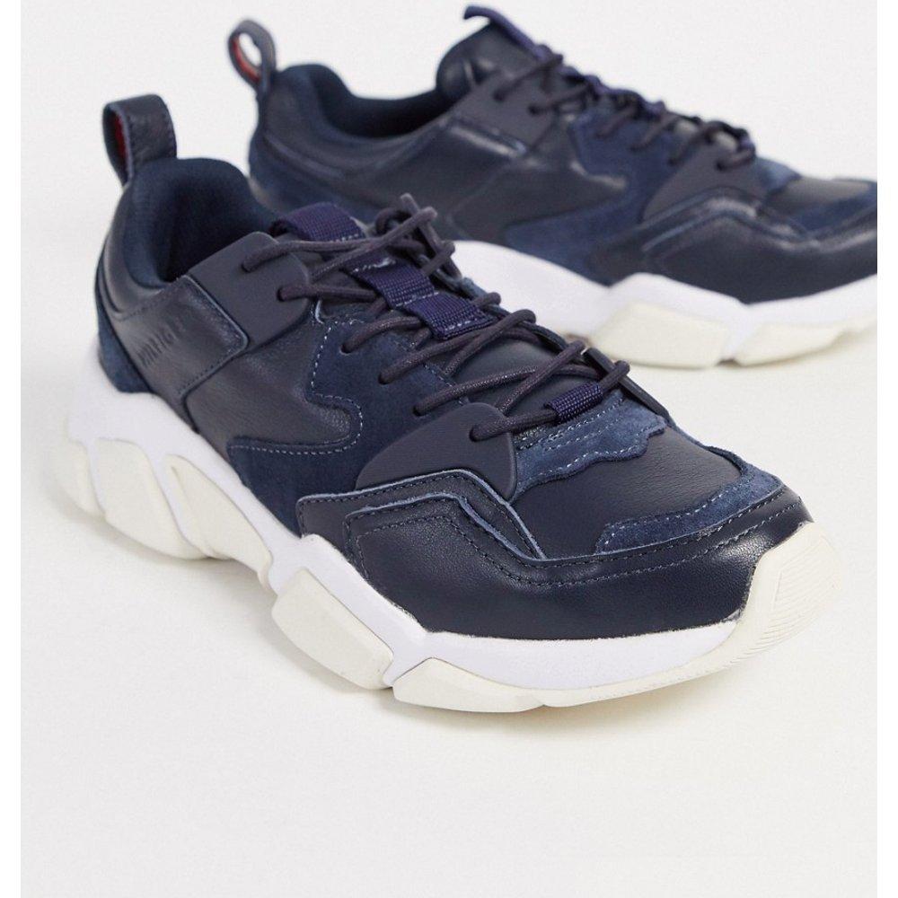 Jeans - Baskets chunky en cuir - Tommy Hilfiger - Modalova