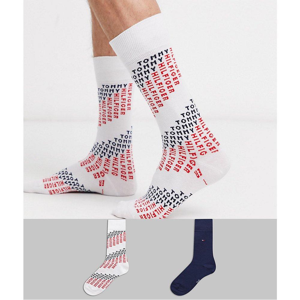 Lot de 2 paires de chaussettes à logo - Tommy Hilfiger - Modalova