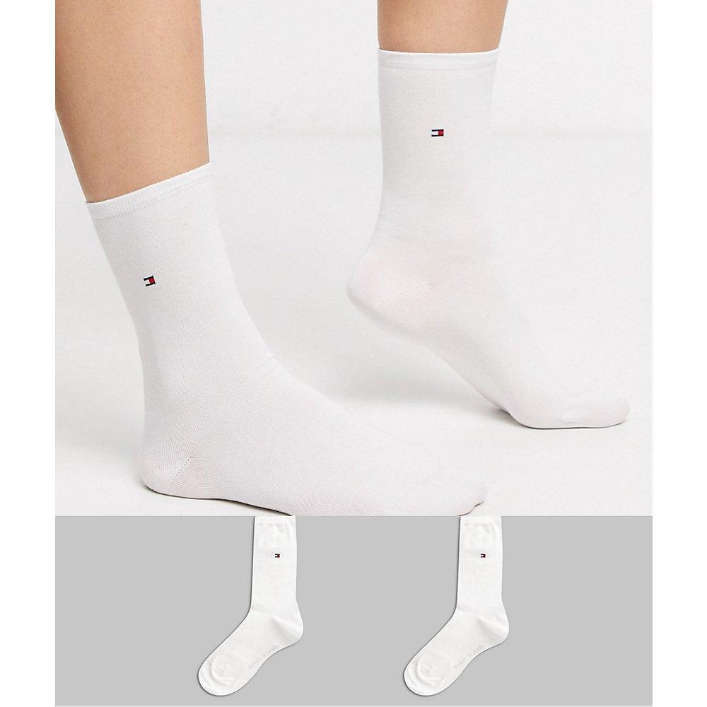 Lot de 2 paires de chaussettes casual avec logo - Tommy Hilfiger - Modalova