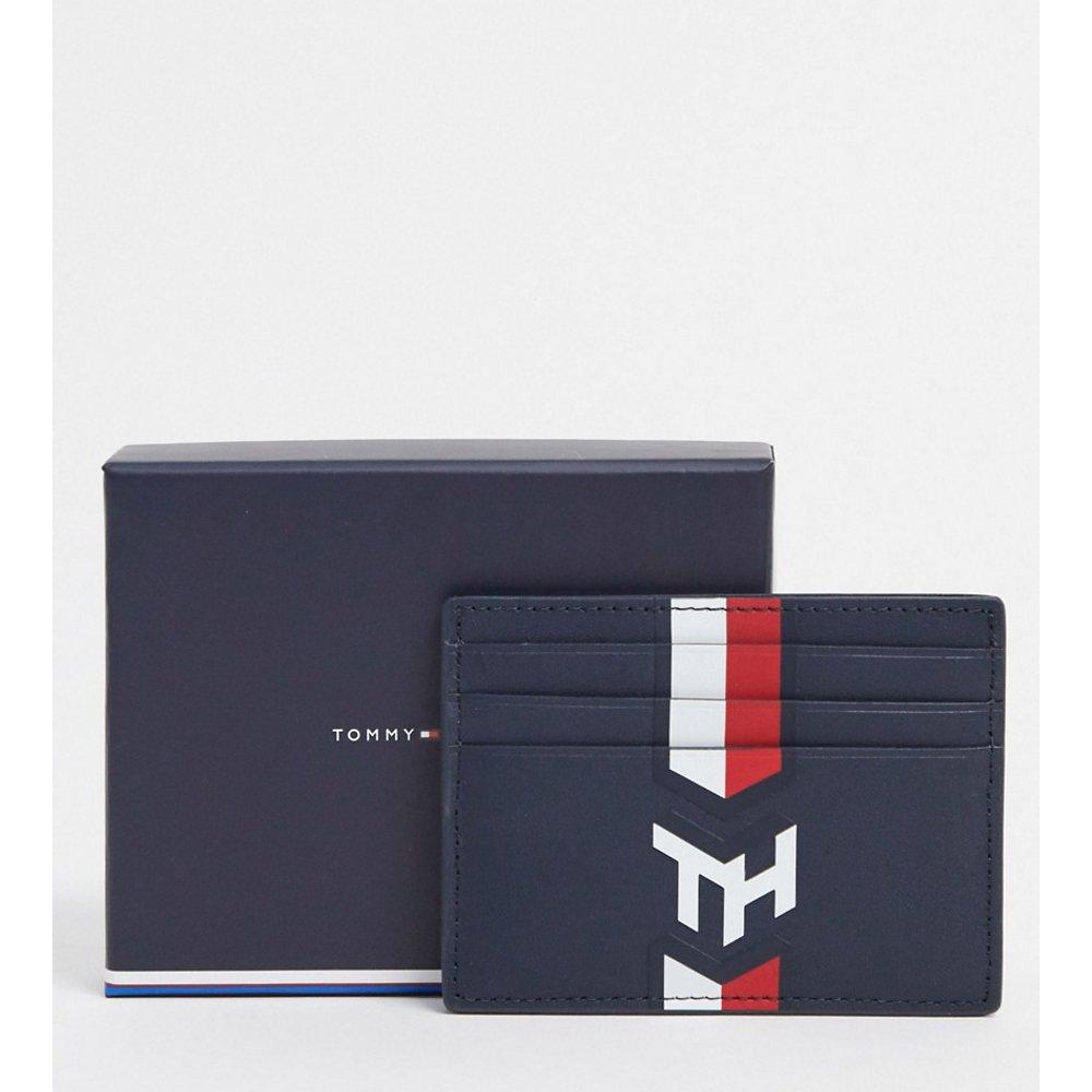 Porte-cartes en cuir avec monogramme style marin - Tommy Hilfiger - Modalova