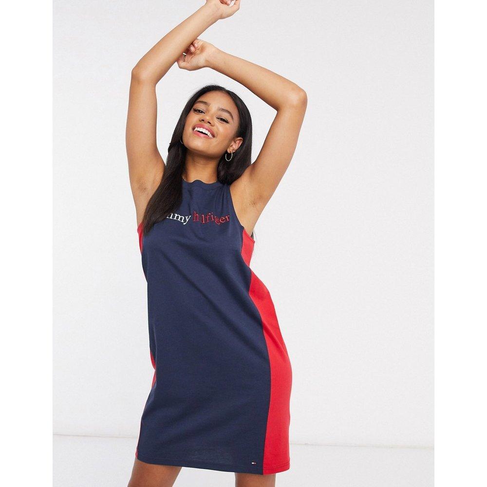 Robe débardeur loungewear avec logo - marine - Tommy Hilfiger - Modalova