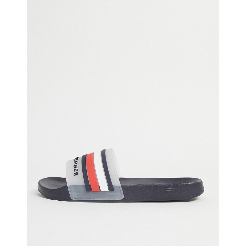 Sandales de piscine à logo - Bleu marine - Tommy Hilfiger - Modalova