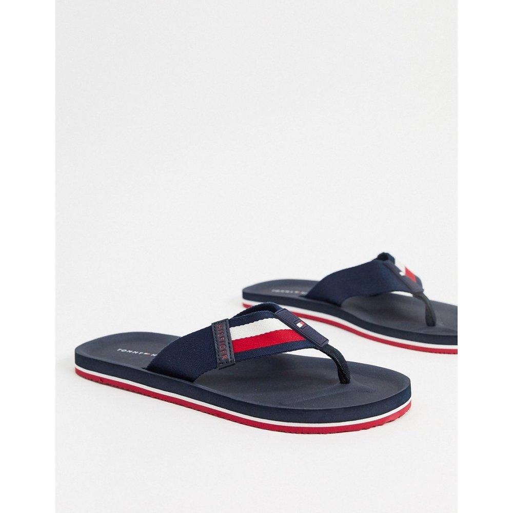 Sandales de plage avec rayures aux couleurs de la marque - Bleu marine - Tommy Hilfiger - Modalova