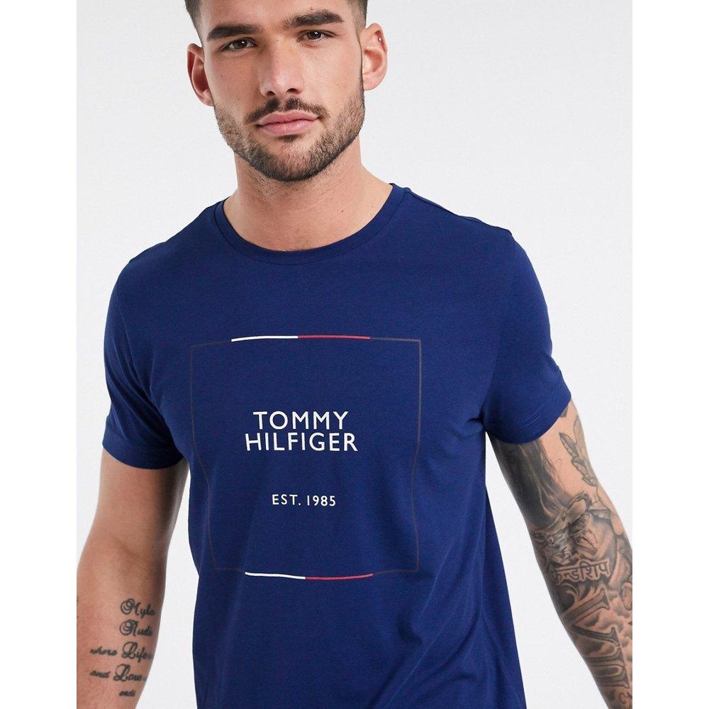 T-shirt à logo effet contour - Encre - Tommy Hilfiger - Modalova